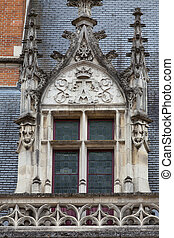 Castle of BloisThe window in the Gothic wing of Louis XII...