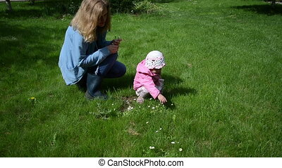 daisies child mother