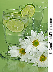 Lime Ade - Daisies with fresh limes in drinks.