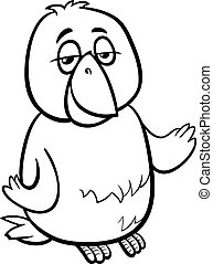 canary bird cartoon coloring page - Black and White Cartoon...