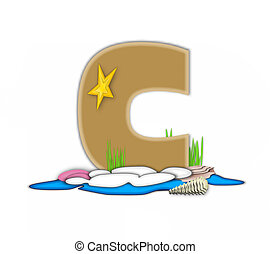 Alphabet Sea Shore C - The letter C, in the alphabet set Sea...
