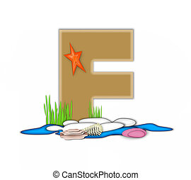 Alphabet Sea Shore F - The letter F, in the alphabet set Sea...