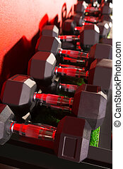 Hex Dumbbells weight training equipment gym - Hex Dumbbells...