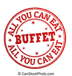 All You Can Eat Buffet stamp - All You Can Eat Buffet grunge...