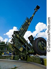 howitzer - Howitzer at military exhibition in Nizhniy Tagil,...