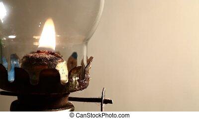 Lamp - Close up of a kerosene lamp