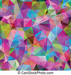 Triangle seamless pattern of geometric shapes. Colorful...