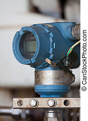 Pressure transmitter in oil and gas process , send signal to...