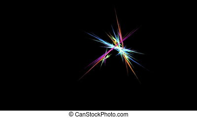 Bright Colorful Fibers in Motion - bright colorful rays of...