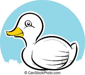 feliz, pato