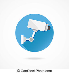 Vector CCTV Surveillance Camera - Vector CCTV Video...