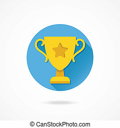 Vector Gold Cup Icon