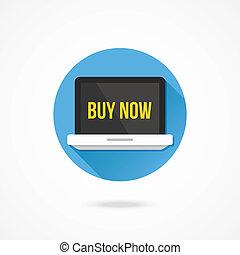 Vector Laptop Buy Now Icon
