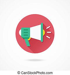 vetorial, alto-falante, ícone