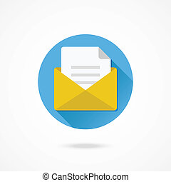 Vector Opened Envelope and Document