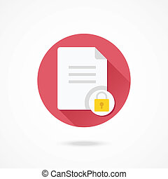 Vector Protected Document Icon