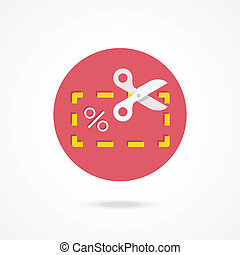 Vector Sale Coupon Icon