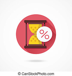 Vector Sand Hourglass and Percent