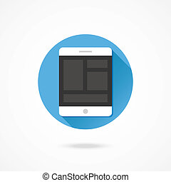 Vector Tablet Responsive Web Design Icon