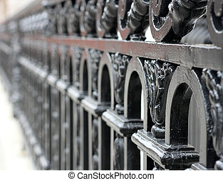 Wrought Iron Fence - Old time decorative wrought iron...
