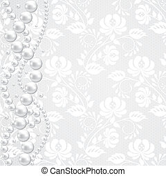lace fabric background - Template for wedding, invitation or...
