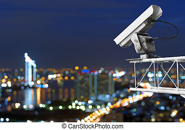 cctv - CCTV security on the building. Below is a view of the...