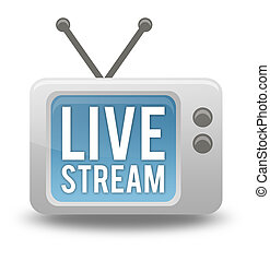 Cartoon-style TV Icon Live Stream - Cartoon-style TV Icon...