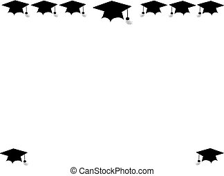 grad cap borders - mortar boards for graduation border and...