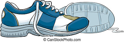 Running Shoes - A pair of cartoon running shoes.