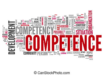 Word Cloud Competence - Word Cloud with Competence related...