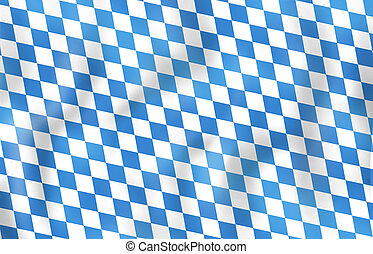Bavaria Oktoberfest festival fresh design blue color -...