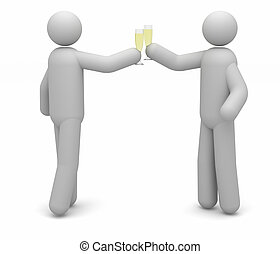 Celebration - Two people celebrating with a champagne toast