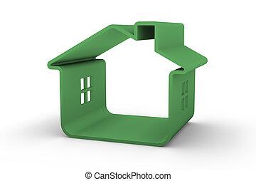 verde, casa