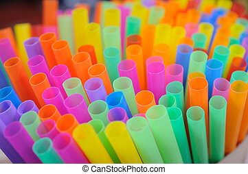 Group of colorful tubes, art background.