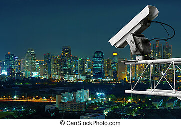 Security cameras monitor the movement of the top of the...