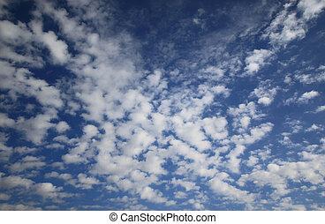 Sky with Altocumulus cloud - Altocumulus, a type of middle...