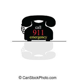 emergency call phone vector art illustration on white