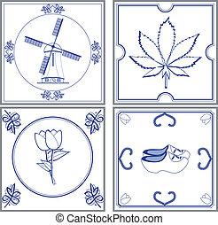 dutch tiles - Image of dutch cultural tiles