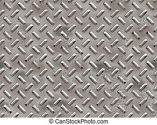 Chrome rivets - Seamless tiled chrome rivets background with...