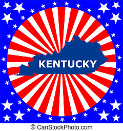 map of the U.S. state of Kentucky