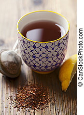 cup of tea - cup of red tea rooibos