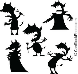 Cartoon Devil Set