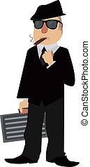Mobster - Image of a cartoon mobster