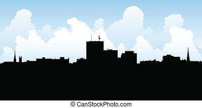 Saint John Skyline - Skyline silhouette of the city of Saint...