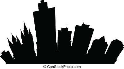 Cartoon Salt Lake City - Cartoon skyline silhouette of the...