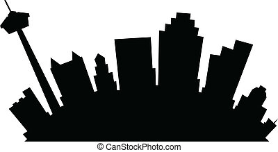 Cartoon San Antonio - Cartoon skyline silhouette of the city...