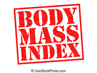 BODY MASS INDEX red Rubber Stamp over a white background.