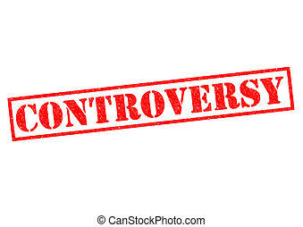 CONTROVERSY red Rubber Stamp over a white background