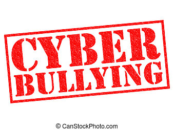 CYBER BULLYING red Rubber Stamp over a white background