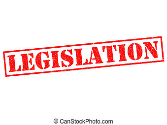 LEGISLATION red Rubber Stamp over a white background